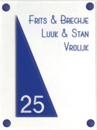 Gravoglas naambord 15x20 cm 4008