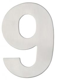 Huiscijfer Rvs groot 9