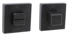 Wc rozet set convex vierkant  mat zwart