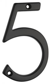 Huiscijfer zwart klein 5