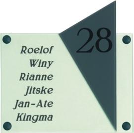 Gravoglas naambord 20x20 cm 4001