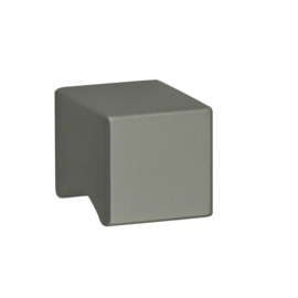 Knop vierkant massief aluminium 19mm*19mm
