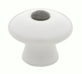 Knop Rens: 35 mm  porselein/messing (vanaf 5 stuks)