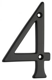Huiscijfer zwart klein 4