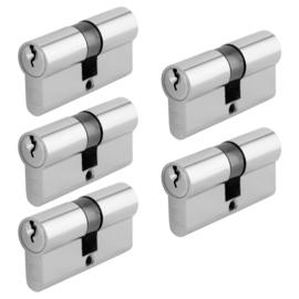 Chavo profielcilinder nikkel 30/30 5 stuks