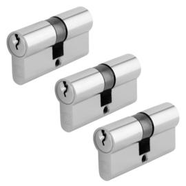 Chavo profielcilinder nikkel 30/30 3 stuks