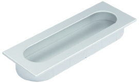 Inkapgreep Flox ovaal 125mm aluminium look
