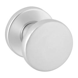 Deurknop op rozet aluminium