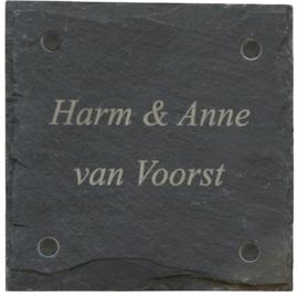 Leisteen Naambord 15 x 15 cm artnr. 2503