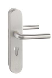 SKG deurkrukset Aluminium 55/72/110 mm cilinder ovaal