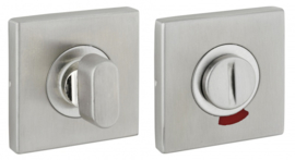 Wc rozet set vierkant rvs  #304 met Rood/Wit Indicator