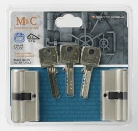Veiligheidscilinder SKG ** 2 stuks