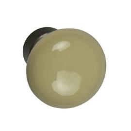 Knop 30mm creme porselein met voet