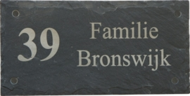 Leisteen Naambord 30 x 15 cm artnr. 2504
