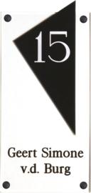 Gravoglas naambord 15x33 cm 4007