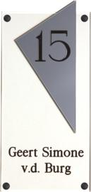 Perspex naambord 15 x 33 cm 5007