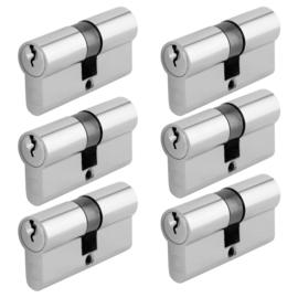 Chavo profielcilinder nikkel 30/30 6 stuks