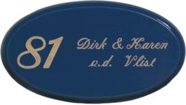 Houten naambord 25 x 14 cm artnr. 8003