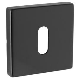 Sleutelplaatjes  vierkant rvs mat zwart