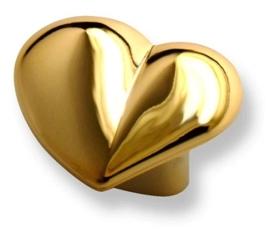 Knop Juliet: 36 mm hartvorm goud