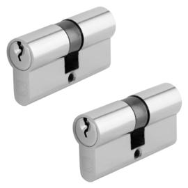 Chavo profielcilinder nikkel 30/30 2 stuks