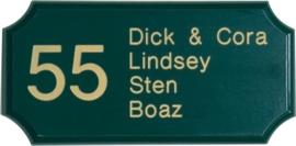 Houten naambord 29 x 14,5 cm 8203