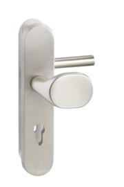 SKG deurknop/kruk Aluminium 55/72/110 mm cilinder ovaal