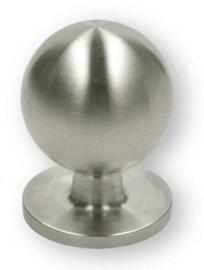 Knop Edan: 25 mm geborsteld rvs