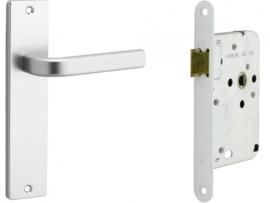 Loopslot met deurkrukset Aluminium Caton