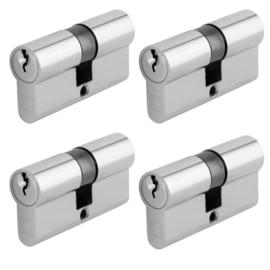 Chavo profielcilinder nikkel 30/30 4 stuks