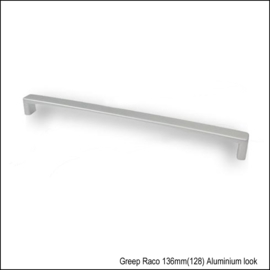 Greep Raco 136mm (128) aluminium look