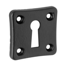Sleutelplaatjes vierkant zwart per 2 stuks
