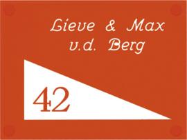 Perspex naambord 20 x 15 cm 5009