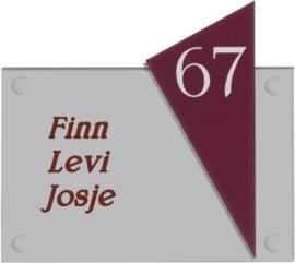 Gravoglas naambord 15x13 cm 4003