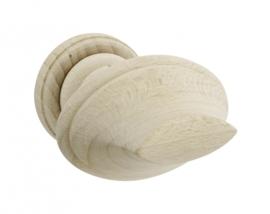 Knopkruk Olimpos  rond rozet beuken,hout
