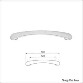 Greep Rini Anox 148mm (128mm)
