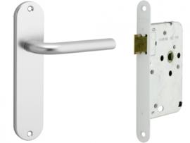 Loopslot met deurkrukset Aluminium Berto