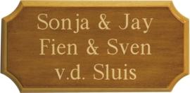 Houten naambord 29 x 14,5 cm 8204