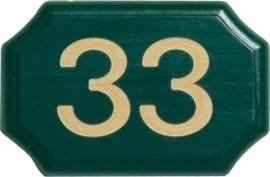 Houten bord met huiscijfer 12x8 cm 8201