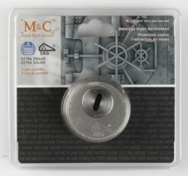 Veiligheidsrozet met kerntrekbeveiliging Rvs F9