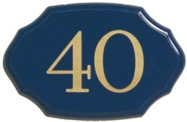 Houten bord met huiscijfer 17x11 cm artnr. 8101
