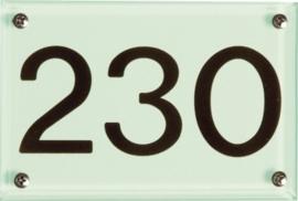 Glaslook plaat huiscijfer 15x10 cm 3112/3102/3122