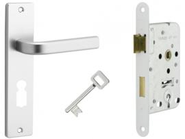 Dag - Nachtslot met deurkrukset aluminium Caton