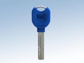 Extra sleutel nabestelling  voor veiligheidscilinder, Donker Blauw
