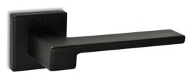 Deurkrukset Convex®  1535-S19 vierkant rozet  mat zwart massief