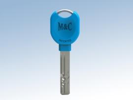 Extra sleutel nabestelling voor veiligheidscilinder, Licht blauw