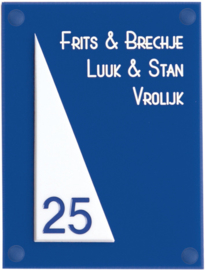 Perspex naambord 15 x 20 cm 5008