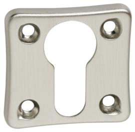 Cilinderplaatje vierkant oud  mat nikkel