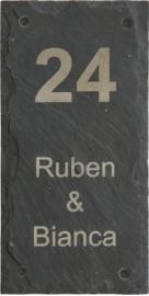 Leisteen Naambord 15 x 30 cm artnr. 2505