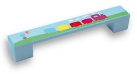 Kinder greep treintje 128 mm blauw